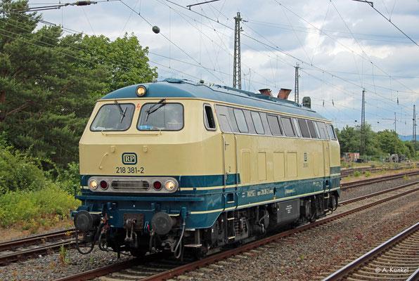 RP-218 381 legt am 5. Juni 2020 in Babenhausen (Hessen) eine Pause ein.