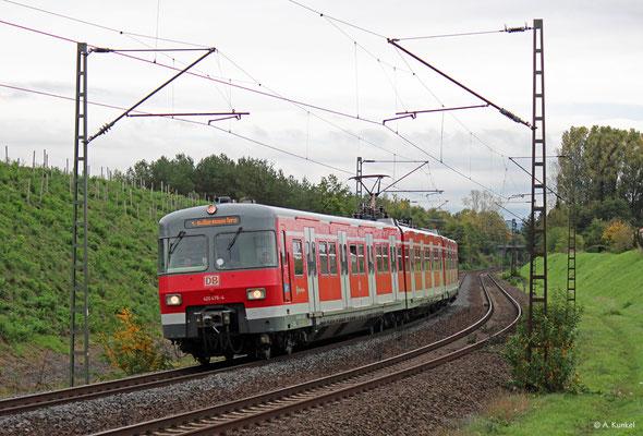 420 476 der S-Bahn-Müchen wird am 21. Oktober 2019 nach Aachen überführt - hier in Hanau-Großauheim.
