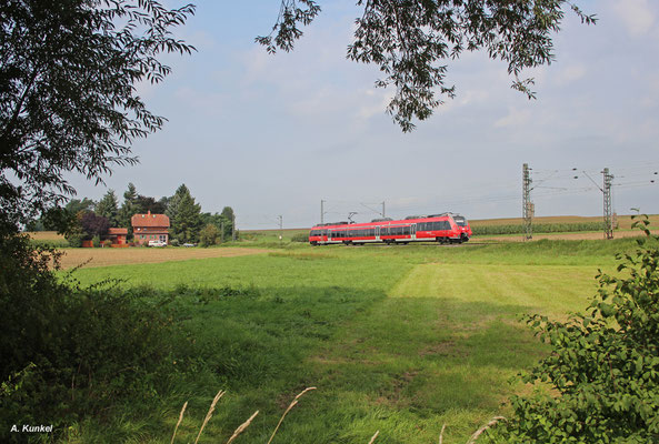 RB 15161 nach Hanau am 26. August 2017 bei Ostheim.