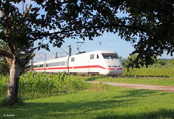 """ICE Triebzug 190 (401 090 & 401 590) """"Ludwigshafen am Rhein"""" am 01. Juli 2016 als ICE 373 nach Interlaken Ost in Denzlingen."""