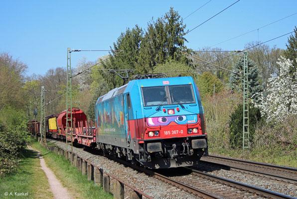 185 367 kommt am 7. April 2020 durch Hanau Wilhelmsbad.