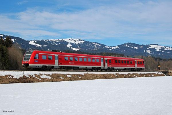 Nachschuss auf 612 149/649 bei Unterthalhofen, 03. März 2019, RE 3387.