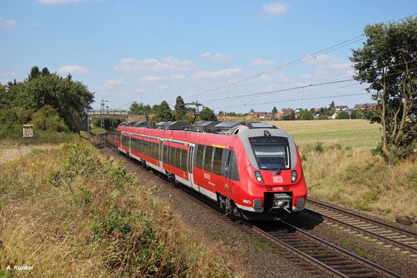 442 780 als RB 15081 Gießen - Frankfurt/Main am 17. August 2016 bei Kirch-Göns.