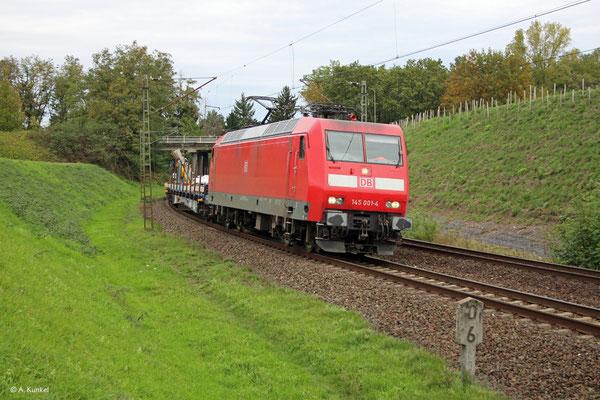 145 001 am 21. Oktober 2019 am Rauschwald in Hanau-Großauheim.