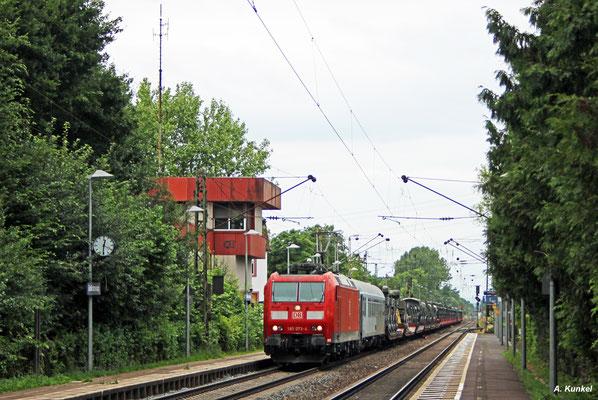 Belgische Militärfahrzeuge hat 185 073 am 17. Juni 2017 in Großkrotzenburg am Haken.