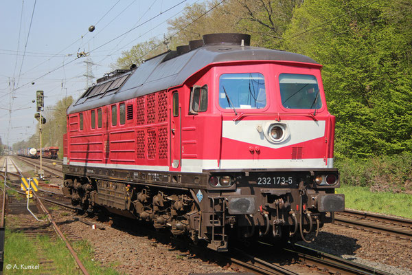 232 173 am 9. April 2020 beim Kopfmachen in Großkrotzenburg.