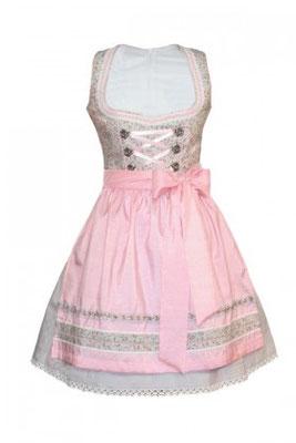 Mini-Dirndl 5304 Marke: Fuchs Trachtenmoden Farbe: grau – rosa Rocklänge: 50 cm Gr. 30 –40  99,90 EUR inkl. MwSt.