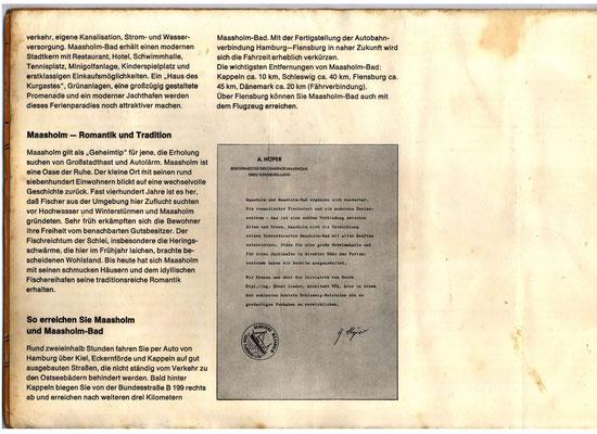 Bauprospekt Maasholm-Bad 1970 Seite 4