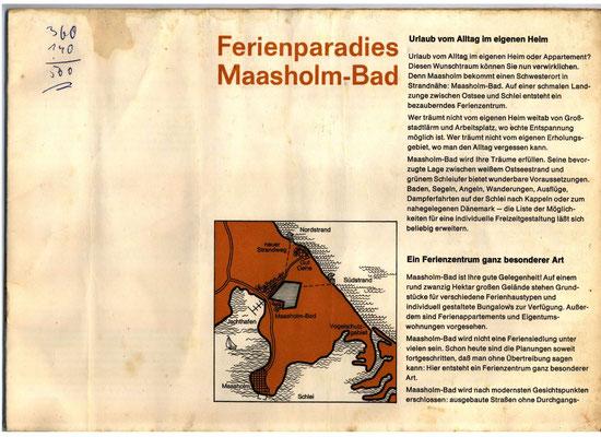 Bauprospekt Maasholm-Bad 1970 Seite 3