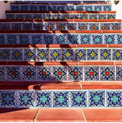 mexikanische fliesen treppe