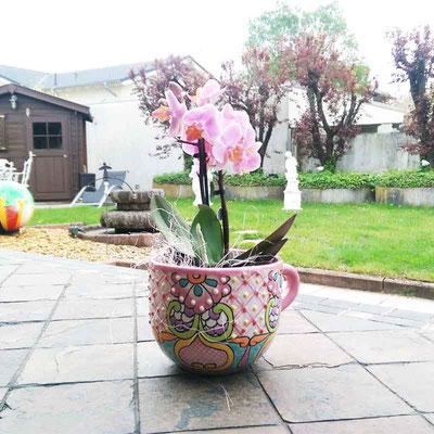Blumentopf Tasse Pastell