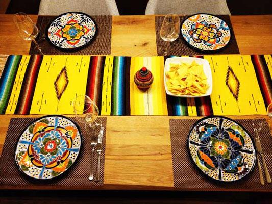 Bunte mexikanische Tischdeko