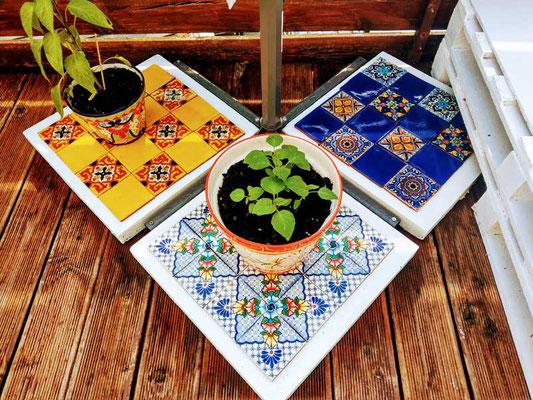 Bunte Deko Fliesen DIY Betonplatten