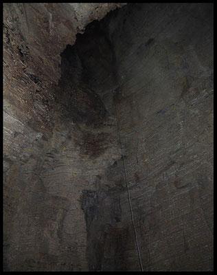 Grotta del Canalone: alla base del P18