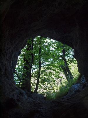 Prima Grotta in Alta Valle di Ponte del Diavolo: finestra