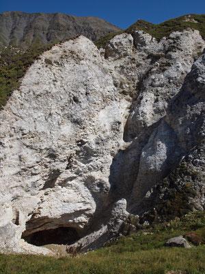 Crap da Schis: entrata sul fondo della dolina