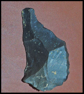 Grotta Veri: lama-raschiatoio, industria litica