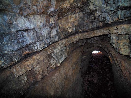 Miniera di Lignite Sopra Campione: galleria sud occlusa