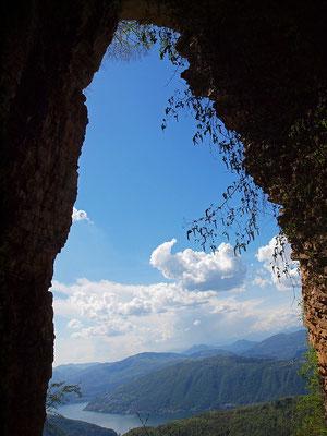 Camino degli Albagnoni: panorama sul Ceresio