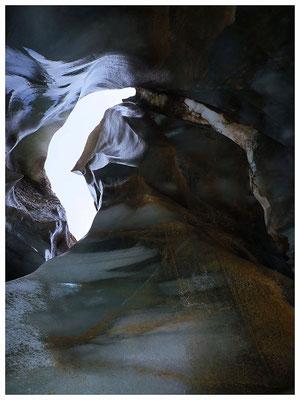 Ghiacciaio del Cavagnöö (Cavagnoli): canyon