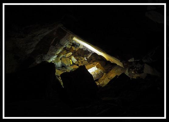 Grotta Veri: la frana che ha sigillato il probabile ingresso originale