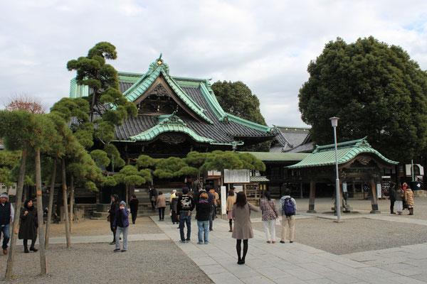 Hauptgebäude des Taishakuten Tempels.