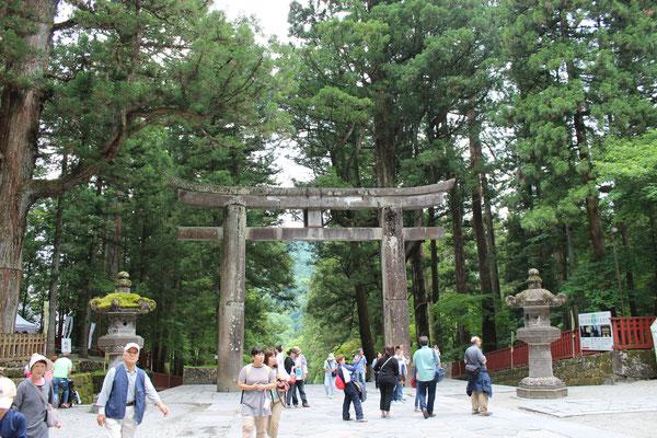 Das große Torii am Eingang
