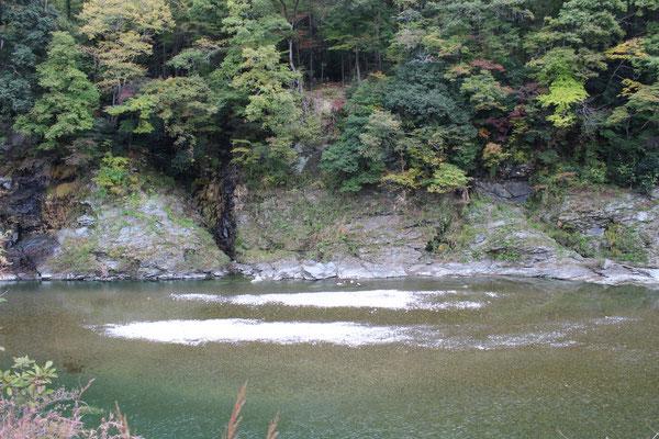 Der Arakawa, heute ohne gefährliche Stromschnellen