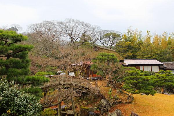 Genkyuen-Garten mit Teehaus