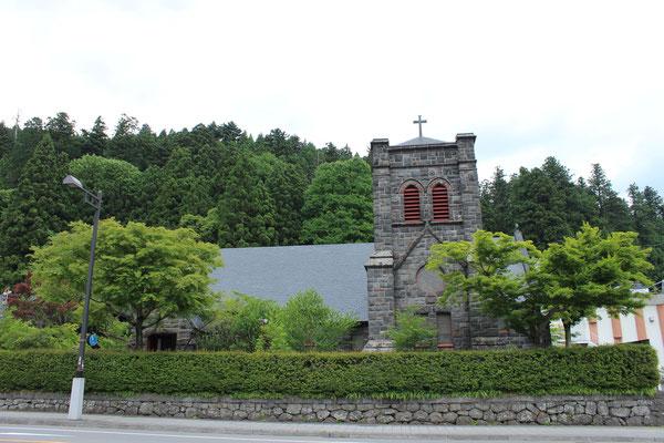 Selbst eine Kirche befindet sich in Nikko