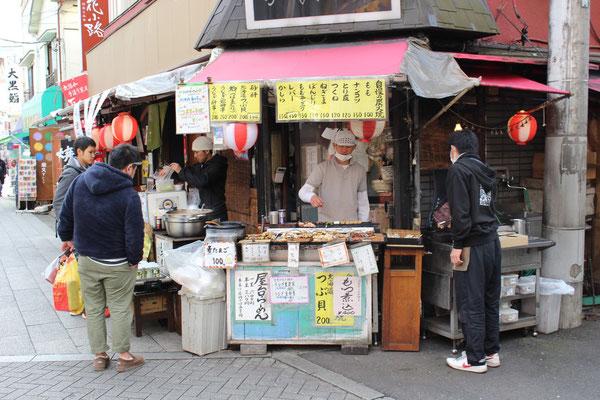 Yakitori (gegrillte Hähnchenspieße).