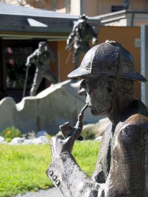 Sherlock Homes Denkmal in Meiringen