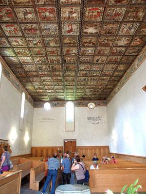 Kirche Zillis - Deckenmalerei