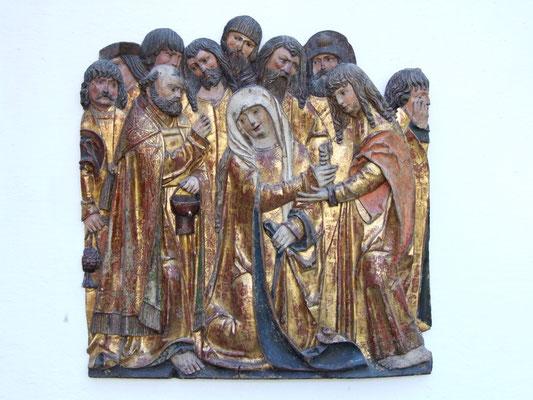 Meister von Heiligenblut, Marientod um 1520/25. Verkauft an eine süddeutsche Privatsammlung.