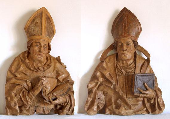 Lux Maurus, Zwei Bischofsbüsten um 1510/20. Verkauft an ein süddeutsches Museum.
