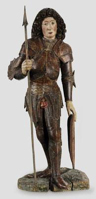 Hl. Georg in Rüstung, um 1480. Verkauft an eine süddeutsche Privatsammlung.