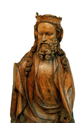 Christusfigur um 1350/60, Rhein/Moselgebiet. Verkauft an Sammlung Leopold.