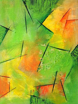 Kornelia Oppolzer-Schmidt, Abstrakte Komposition, 2018