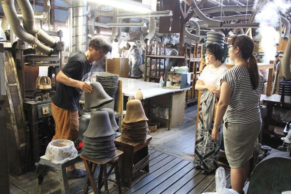 帽子教室 サロン・ド・シャポー 『工場見学』