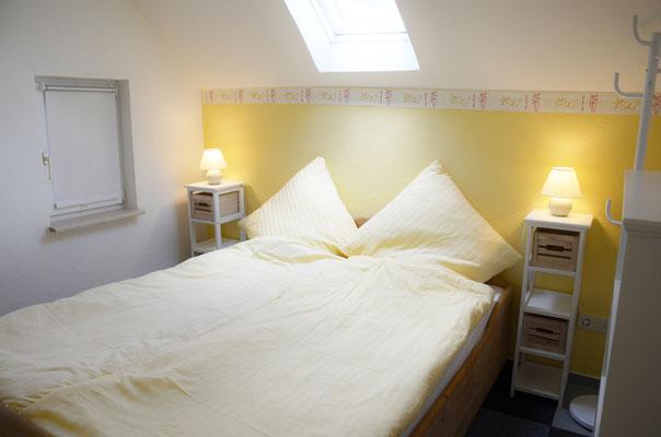 Erdgeschoss: Schlafzimmer 2 für 2 Personen Bett 1,60 x 2,00