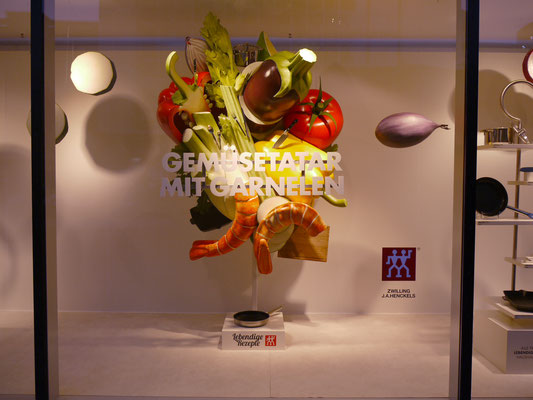 Zwilling, Garnelen mit Gemüse, 2,5m Hoch