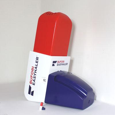 Easy Haler, Inhalationsgerät, Original und Vergrößerung Messe- Eyecatcher