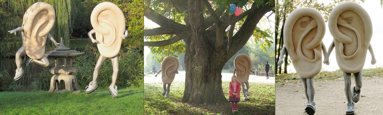 Ohren-Kostüme, Kind-Hörgeräte- Filmdreh