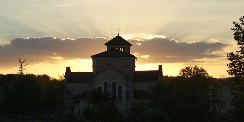 Eglise le soir St Jean Baptiste