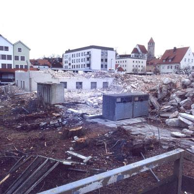 Abbruch Martinsheim, jetzt Kaufhaus Röther