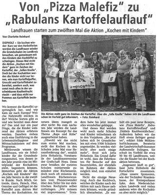 Bericht der Kreiszeitung vom 23.08.2013