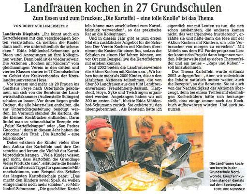 Bericht des WeserKurier vom 27.08.2013