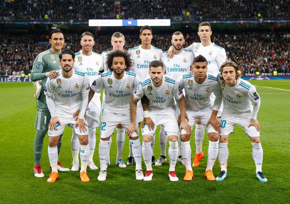 11 inicial del Real Madrid