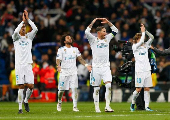 Varane, Marcelo, Ramos y Modric agradecen el apoyo a la afición