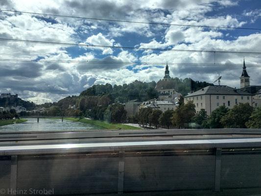 Bereits bei der Anreise, waren schon in Salzburg dunkle Wolken zu sehen und kurz vor Scharnitz begann es zu regnen!